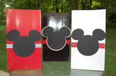 Mickey Mouse Inspired Red Black and White Theme by PoppinParties, $22.00