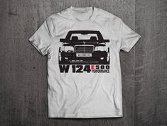 Mercedes W 124 Shirts, Mercdes t shirts, Benz shirts, Cars shirts, men t shirt, women t shirt, funny shirts, E class shirts, vintage car by MotoMotiveInk on Etsy #menst-shirtsvintage #vintagecars