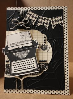 Stampin' & Scrappin' with Stasia: Spooky Typewriter  Who would have thought to use this set for halloween??