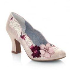 5ce1c51e7ff Viloa Champagne Vintage Retro Style Ruby Shoo Mid High Heel Shoes