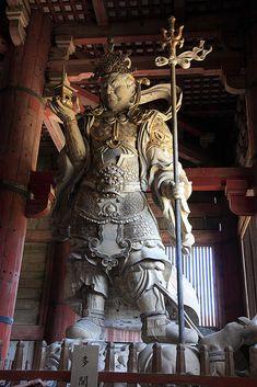 Bishamon-ten guardian statue, Todai-ji Temple, Nara, Japan. Temple built year 728. Photo2 Japan Architecture, Religious Architecture, Todai-ji Temple, Beautiful Places In Japan, Japan Art, Japan Japan, Oriental, Historical Art, Buddhist Art