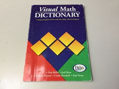 VISUAL MATH DICTIONARY, EASY DESCRIPTION OF TERMS, CLEAR TABLES, CHARTS, DIAGRAM #StudyHelps