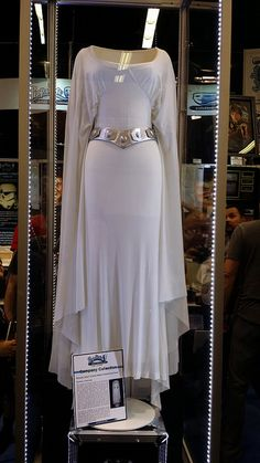 Princess Leia gown - Star Wars Cosplay - Star Wars Cosplay news - - Princess Leia gown Costume Leia, Costume Star Wars, Padme Costume, Star Wars Dress, Leia Star Wars, Star Wars Art, Star Trek, Princesa Leia, Carrie Fisher