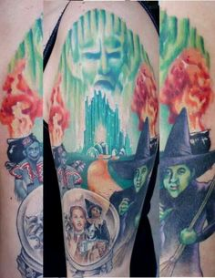 wizard of oz tattoos pictures | Wizard of oz sleeve
