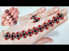 Seed Bead Bracelets, Beaded Bracelets Tutorial, Seed Beads, Beaded Bracelet Patterns, Seed Bead Patterns, Beading Patterns, Loom Beading, Beading Tutorials, Rakhi