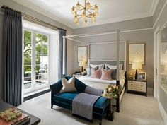 """""""KINGWOOD, Hans Place, Knightsbridge - Sharing more bathroom and bedroom landing images of our newly completed Penthouse #interiordesign"""""""