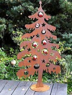 Weihnachtsbaum Metall  Edelrost Rost 120cm Deko Tanne Tannenbaum
