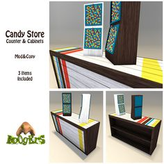 BoOgErS Candy Store Counter and Cabinets Ad | Flickr - Photo Sharing!