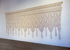 "Sophisticated & Refined - Bohemian Luxe - Macrame Wall Hanging - 9'W, 4""H"