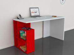 Labran Çalışma Masası Beyaz-Kırmızı 199,00 TL