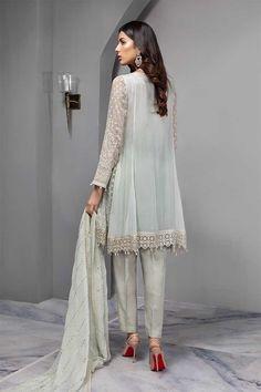 Maria B Eid Collection 2019 Suit Ferozi Cotton Silk, Printed Cotton, Buy Suits, Maria B, Fancy Buttons, Pakistani Couture, Eid Collection, Designer Dresses, Chiffon