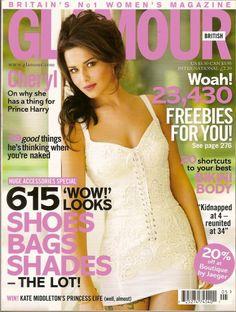 Who made Cheryl Cole's white dress that she wore on the cover of Glamour magazine? Glamour Magazine Uk, Glamour Uk, Jennifer Hudson, Kate Hudson, Cheryl Fernandez Versini, Girls Aloud, Marisa Miller, Nicole Richie, Eva Longoria
