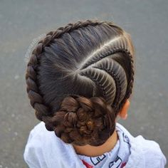 New braids for kids pony tail girl hairstyles ideas Pretty Hairstyles For School, Kids Braided Hairstyles, Little Girl Hairstyles, African Hairstyles, Trendy Hairstyles, Teenage Hairstyles, Beautiful Hairstyles, School Hairstyles, Hair Buns