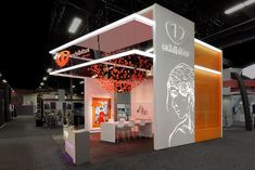 Trade show exhibition; exhibit design; etched backlit; backlit fabric; light box