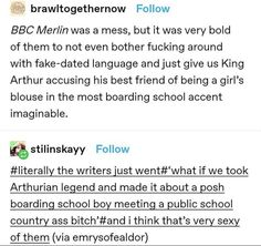 The More You Know, When You Love, Avengers Texts, Merlin Funny, Merlin Fandom, Merlin And Arthur, Fandoms, Funny Tumblr Posts, Book Tv