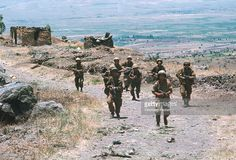 A group of Israeli soldiers during the Six-Day War. By June 10, 1967, when the fighting was halted, Israel had won territory four times the area of its territory in 1949, with an Arab population of 1.5 million.