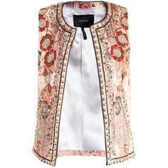 Isabel Marant Jungle paisley embroidered waistcoat ($2,670) ❤ liked on Polyvore