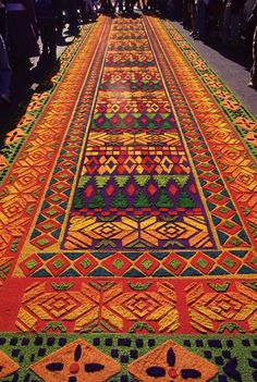 Alfrombas -- or carpets -- of Antigua, Guatemala's Easter celebrations. Stunning, temporary street-art.