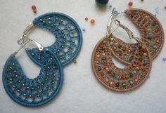 Tutoriales Bricolage, manualidades e ideas Ideas Hogar, Crochet Projects, Crochet Earrings, Hoop Earrings, Jewelry, Google, Color, Earrings Handmade, Shape