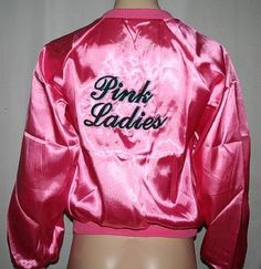 New women's grease pink ladies jacket costume X small costume costumes Grease Themed Parties, Grease Party, Rizzo Grease, Grease 2, 1950s Theme Party, Pink Lady Costume, Grease Pink Ladies Jacket, Grease Costumes, Satin Jackets