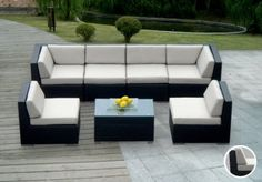 $1500 Amazon.com: Genuine Ohana Outdoor Patio Sofa Sectional Wicker Furniture 7pc Couch Set with Free Patio Cover: Patio, Lawn & Garden