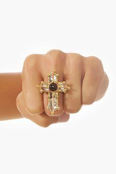 Metal Cross Ring