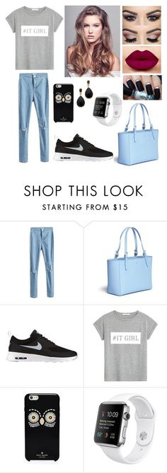 """It Girl"" by tajda-ilar ❤ liked on Polyvore featuring мода, Tory Burch, NIKE, MANGO, Kate Spade и Kenneth Jay Lane"