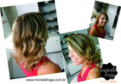 Balayagem , ombrê hair . Bronde Hair no salão Moniele Fraga , em Belo Horizonte .
