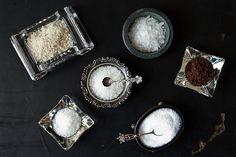 Salt Selection - With so many different types of salt, knowing how and when to use each one can be a bit daunting. Here, we take a look at 10 salts you're likely to encounter in recipes and at the grocery store.