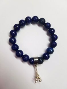 Viva La France Blue Beaded Necklace, Beaded Bracelets, Natural Gemstones, Couture, Beads, Blue, Jewelry, Beaded Collar, Beading