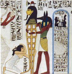 Anubis : le dieu de la momification Anubis est le protecteur des défunts, des tombes et des funérailles. Il dispense aux morts l'offrande funéraire. Anubis est représenté sous la forme d'un prêtre dont la tête est couverte d'un masque à tête de chien ou de chacal noir.