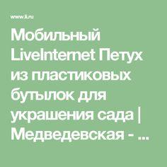 Мобильный LiveInternet Петух из пластиковых бутылок для украшения сада | Медведевская - Дневник Медведевская |