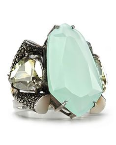 Judith Jack Sterling Silver Marcasite & Chalcedony Ring