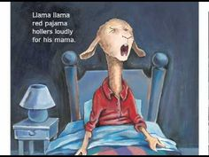 Llama Llama Red Pajama read aloud by Anna Dewdney Kindergarten Ipads Llama Llama Red Pajama, Baby Llama, Listen To Reading, Red Pajamas, Read Aloud Books, Rhymes For Kids, School Videos, Educational Videos, Children's Literature