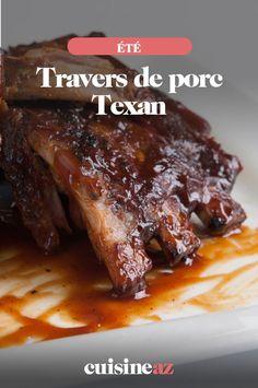Voici la recette des travers de porc Texan de la marinade jusqu'à la cuisson au barbecue. #recette #cuisine #porc #travers #barbecue #bbq #ete Barbecue, French Toast, Pork, Voici, Breakfast, Desserts, Usa, Special Recipes, Cooking Recipes