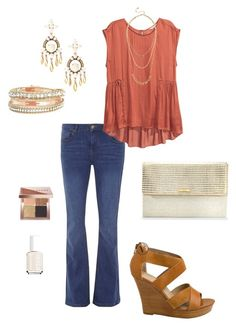 """""""Untitled #278"""" by kmysoccer on Polyvore featuring Dorothy Perkins, H&M, Seychelles, Stella & Dot, Bobbi Brown Cosmetics and Essie"""