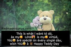 Teddy Day Pic, Happy Teddy Bear Day, Teddy Day Images, Big Teddy Bear, Bear Images, Teddy Bear Quotes, Good Night My Friend, Propose Day, You Are Cute