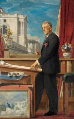 Sir Herbert Baker (1862–1946), Architect c.1925-39 by Alfred Kingsley Lawrence 1893-1975