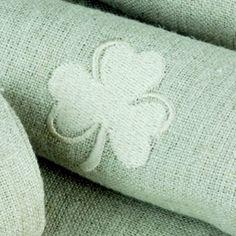 Irish Linen 'Shamrock' Napkin