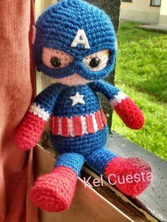 Capitão America em crochê #vingadores #avengers # civilwar #amigurumi #capitãoamérica
