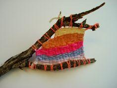 a faithful attempt: Twig Weaving Recycled Art Projects, Cool Art Projects, Weaving Projects, 3d Projects, Project Ideas, Paper Weaving, Weaving Art, First Grade Art, Weaving For Kids
