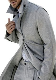 Man in classic grey flannel