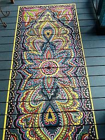Bohemian painted deck