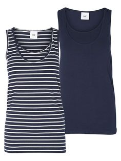 2-PACK NURSING TOP, SLEEVELESS, Navy Blazer