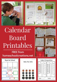 Free Calendar Board Printables - Money Saving Mom®  Check out www.NYHomeschool.com as well.