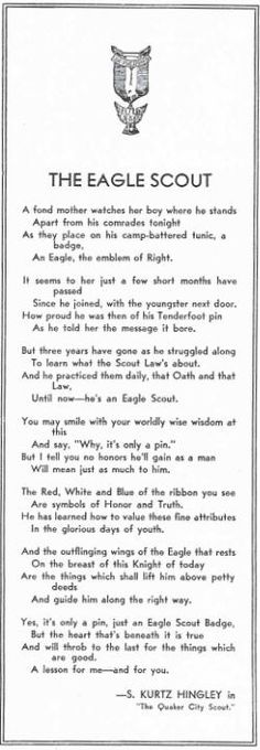 eagle scout poem the eagle scout aka its only a pin