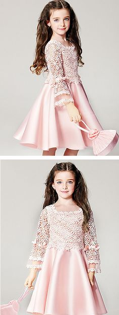 Little Cinderella pearl pink flower girl dress. Light as a feather dress at just $13.99.