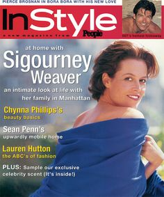 InStyle Magazine Covers: 1995 - November, Sigourney Weaver from #InStyle