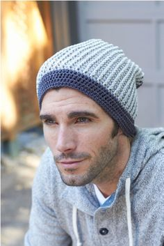 New free men's crochet hat pattern by @Vickie Hsieh Howell