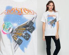 Boston Band Shirt Vintage Third Stage Tour Tshirt 80s by ShopExile